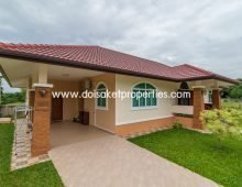 (HS265-03) Almost New European Style Bungalow in a Great Moo Ban for Sale in Talad Kwan, Doi Saket