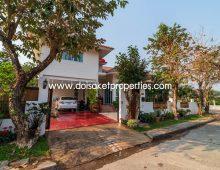 (HR238-03) Partly furnished 3 bedroom house in Moo Baan, Doi Saket.