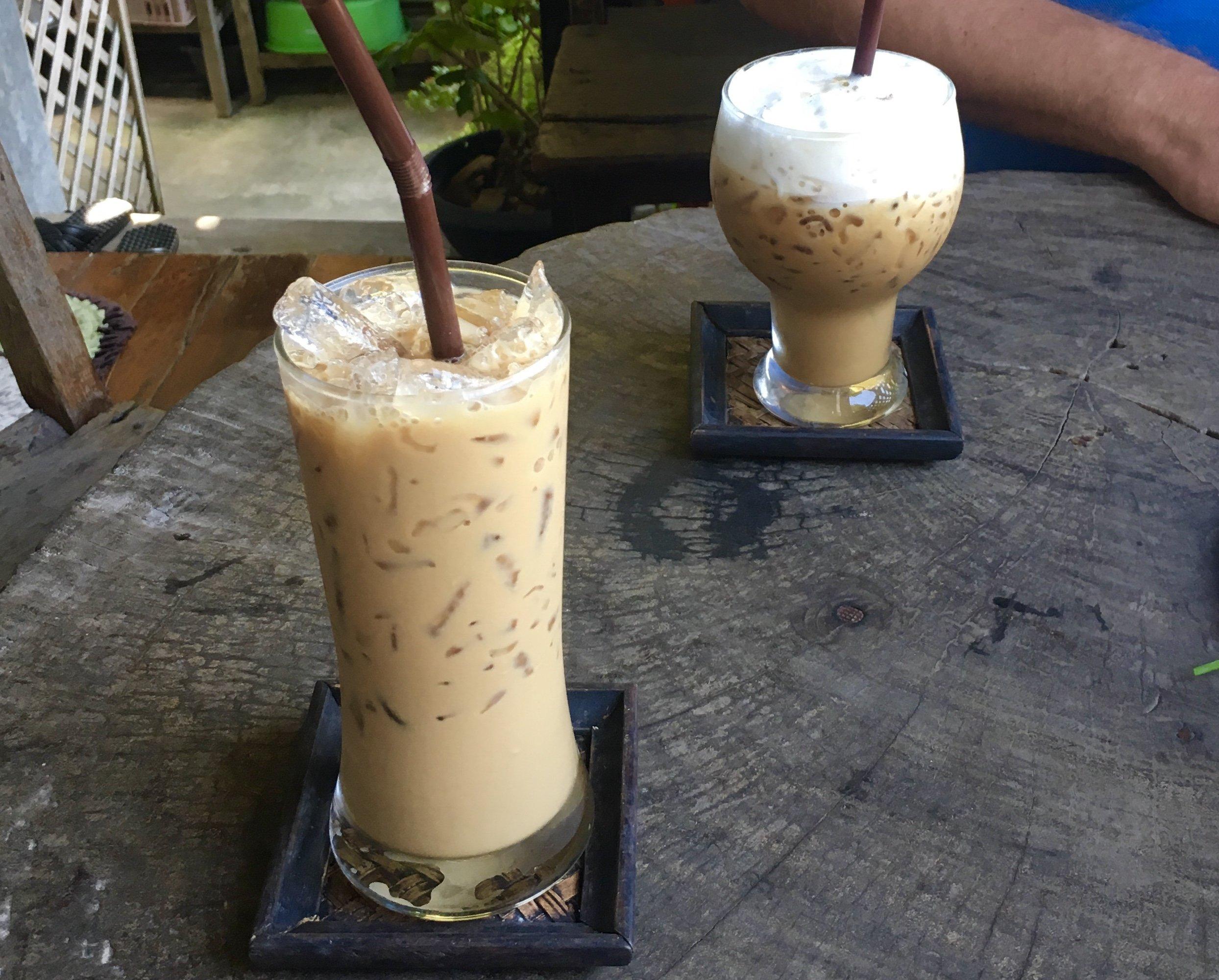 Thai Iced Coffee and Iced Cappucino