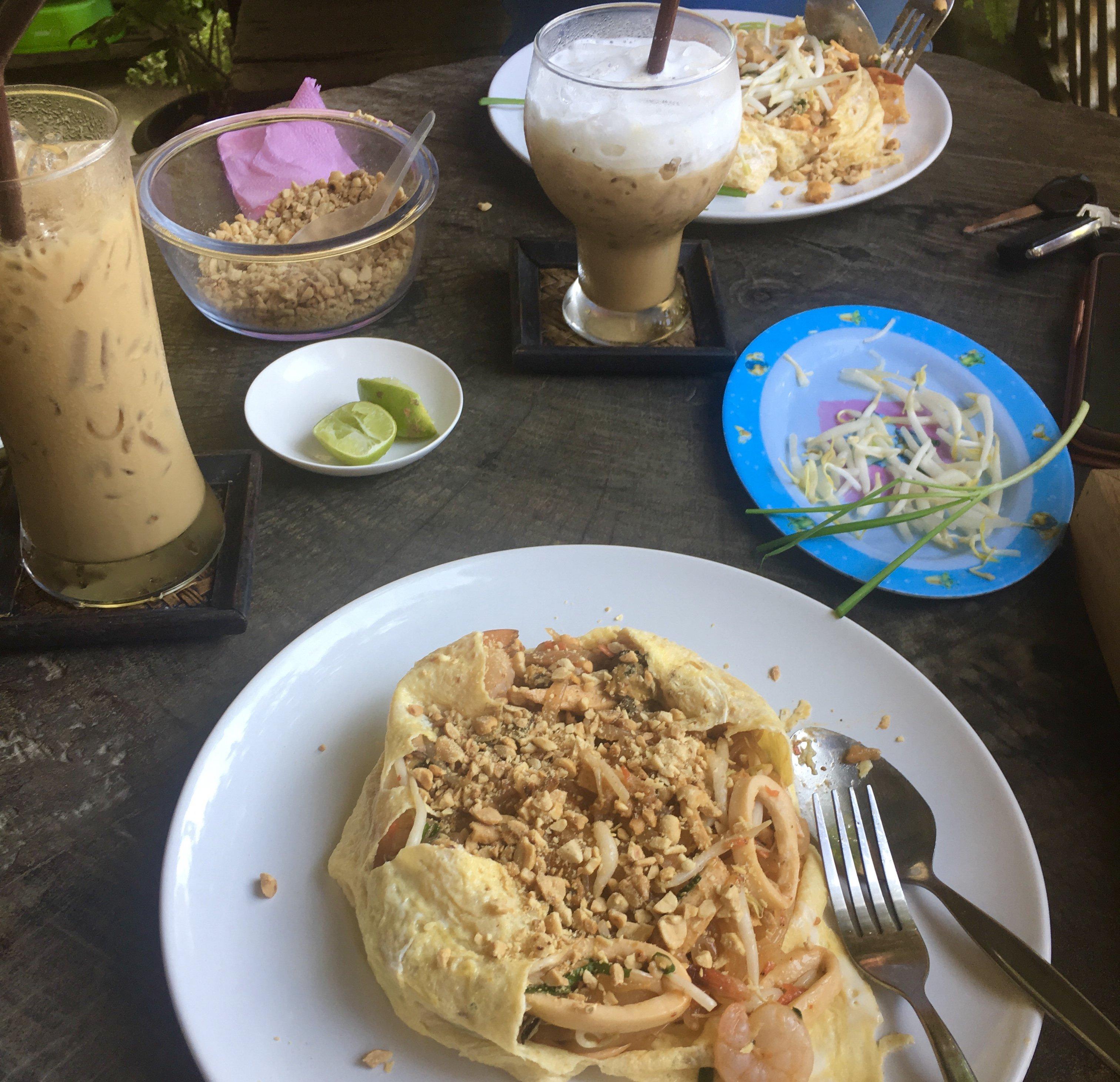 Food and coffee at Padthai @ Doi Saket Restaurant and Coffee - Choeng Doi, Doi Saket