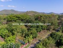 (LS348-01) 1+ Rai of Great Land for Sale in Luang Nuea, Doi Saket
