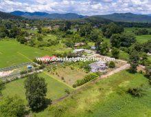 (LS354-00) Nice Half-Rai Plus Plot of Land with Good Views for Sale in Doi Saket, Chiang Mai